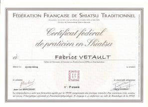 Certification FFST Fabrice vetault-praticien shiatsu